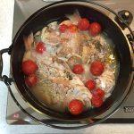 ダッチオーブンでアクアパッツァ